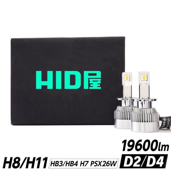 HID屋LEDヘッドライトGシリーズH1H3H3CH4H7H8H11H16H10HB3HB4HIR2爆光12880lm6500k