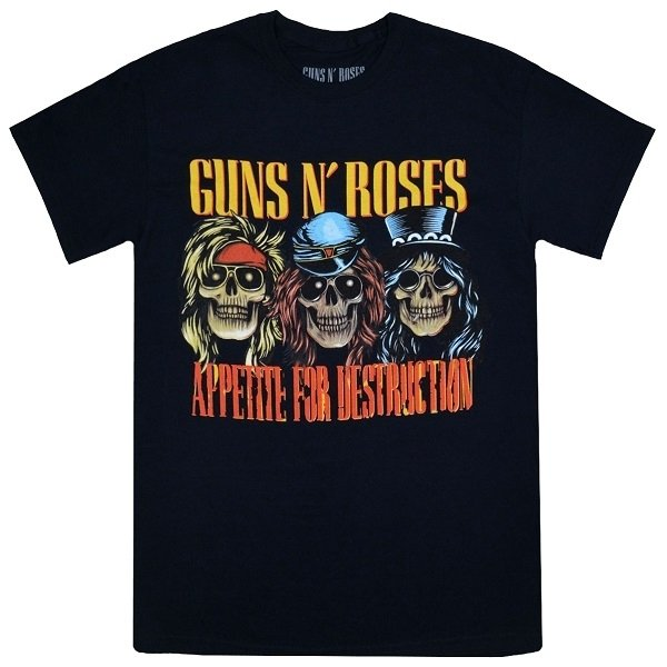 GUNS N' ROSES AFD Skulls Tシャツ