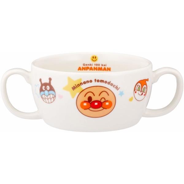 「 それいけ!アンパンマン 」 ブリオン(両手スープカップ) 230ml 子供用 食器 白 074305 trafstore