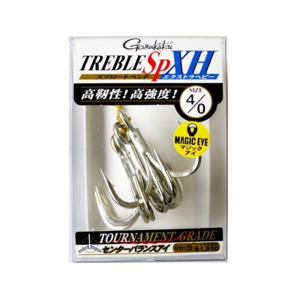 がまかつ(Gamakatsu) トリプルフック トレブル SP XH エクストラヘビー 4/0号 5本 シルバー