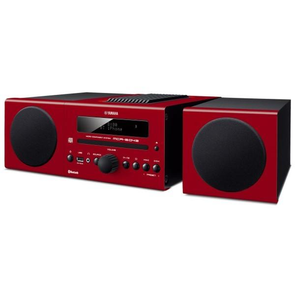 ヤマハ マイクロコンポ CD/USB/ワイドFM・AMラジオ Bluetooth対応 クロックオーディオ レッド MCR-B043(R)