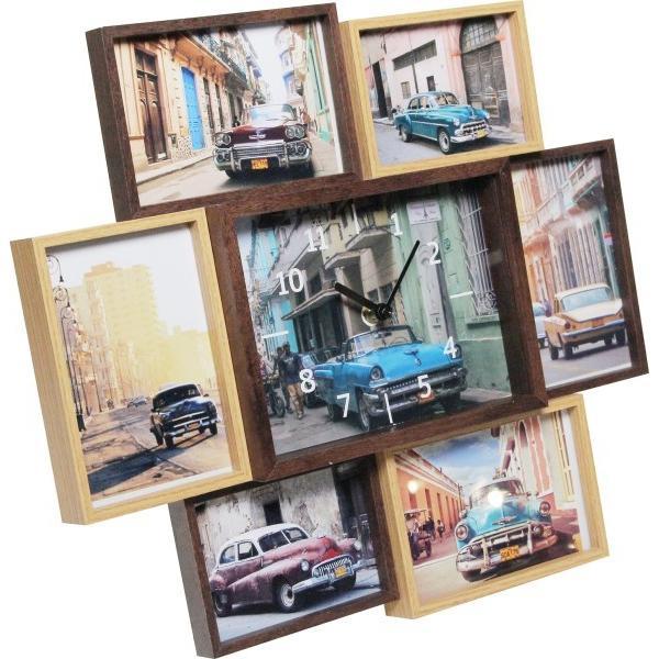 マグネット 写真たて・フォトフレーム ブラウン 4.8 ×43.4 ×38.2 cm 2453