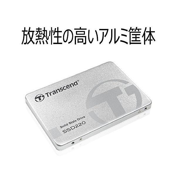 Transcend SSD 120GB 2.5インチ SATA3 6Gb/s 3D TLC NAND採用 3年保証 TS120GSSD220S|trafstore|02