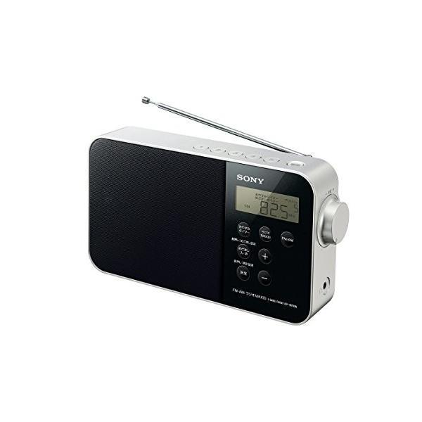 ソニー SONY PLLシンセサイザーポータブルラジオ ICF-M780N : FM/AM/ワイドFM/ラジオNIKKEI対応 乾電池対応 ブラック ICF