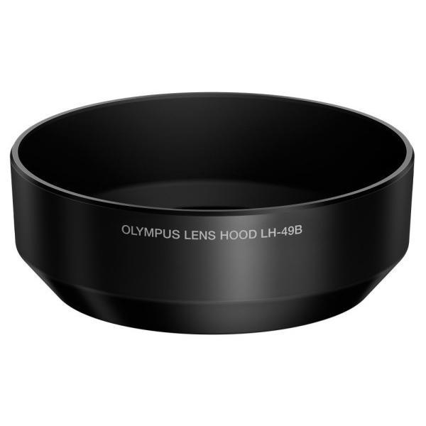 OLYMPUS 単焦点レンズ M.ZUIKO DIGITAL 25mm用 レンズフード ブラック LH-49B BLK|trafstore