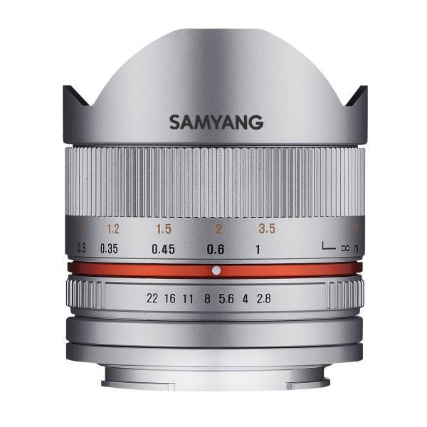 SAMYANG 単焦点魚眼レンズ 8mm F2.8 II シルバー キヤノン EOS M用 APS-C用