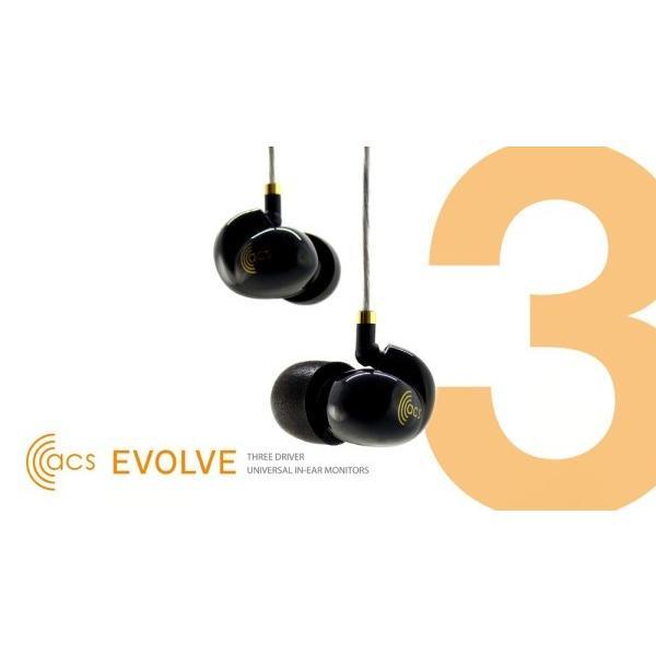 Evolve イヴォルヴ トリプルドライバー ユニバーサルフィット インナーイヤーモニター ACS-EVL-U04