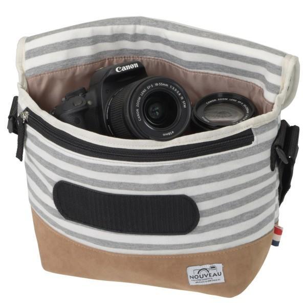 エツミ カメラバッグ ヌーボーモニカM 4.2L ボーダーグレー VE-3526