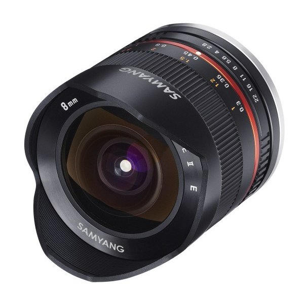 SAMYANG 単焦点魚眼レンズ 8mm F2.8 II ブラック キヤノン EOS M用 APS-C用