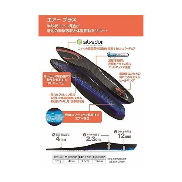 ソフソール(SOFSOLE) インソール エアープラス エアー構造 衝撃吸収強化 取替タイプ 男女兼用 XLサイズ(靴サイズ trafstore 03