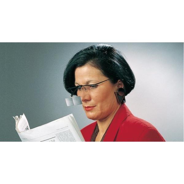 ESCHENBACH メガネ型ルーペ ラボフレーム 両眼タイプ 倍率2倍 レンズ1枚セット 1644-51