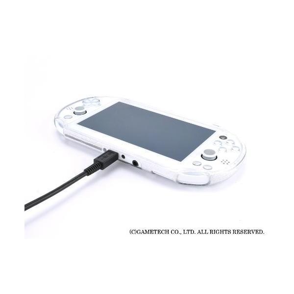 PSVita (PCH-2000) 用プロテクトカバー『ジュエリーカバー:ソフトタイプ for Vita 2000 (ブラックグリッター) 』 trafstore 10