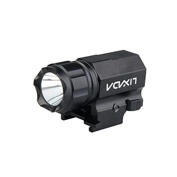 Lixadaタクティカルライト600LM2-Mode高輝度IPX6防水ドットサイトフラッシュライトウェポンライト
