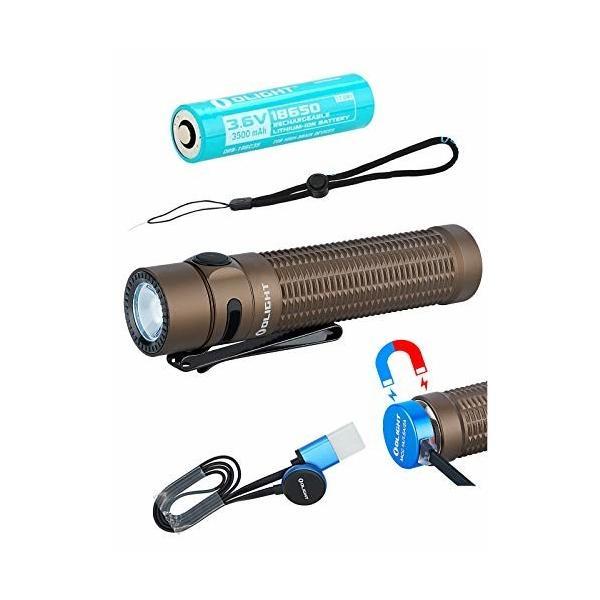 OLIGHTWARRIORMINILED懐中電灯フラッシュライトタクティカルライト1500ルーメンIPX-8防水充電式2種操作設