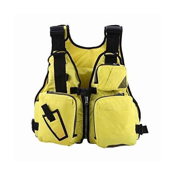 EBTOOLSライフジャケット釣りライフジャケットフィッシングベスト釣り用水泳救命胴衣多ポケット強い浮