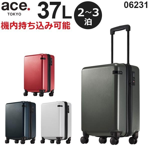 ace.TOKYO LABEL コーナーストーンZ (37L) ファスナータイプ スーツケース 2〜3泊用 機内持ち込み可能 06231|travel-goods-toko