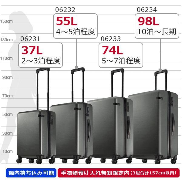 ace.TOKYO LABEL コーナーストーンZ (37L) ファスナータイプ スーツケース 2〜3泊用 機内持ち込み可能 06231|travel-goods-toko|09