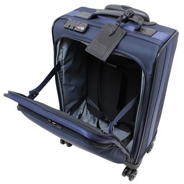 吉田カバン PORTER ポータータイム トロリーバッグS (25L) 1〜2泊向け 機内持ち込み可能 フロントポケット付き ソフトキャリー 日本製 655-17871 travel-goods-toko 03