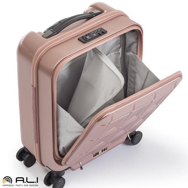 アジア・ラゲージ パンテオン (22L) フロントオープン付き ファスナータイプ スーツケース 1泊用 コインロッカー収納可能 LCC機内持ち込み可能 PTS-4006|travel-goods-toko|04