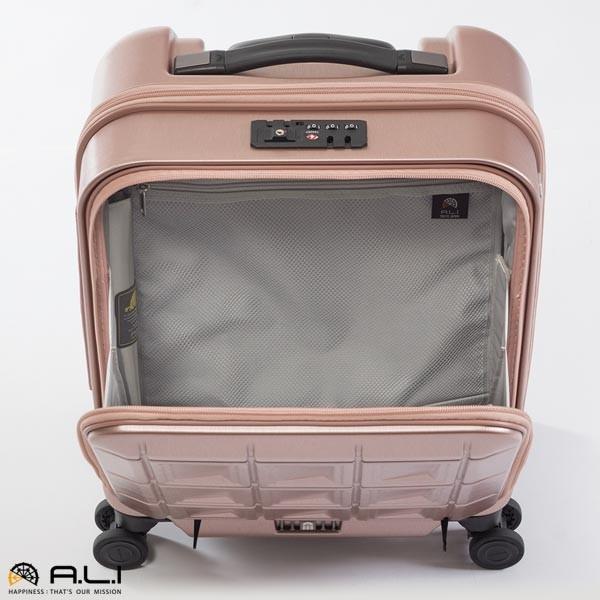 アジア・ラゲージ パンテオン (22L) フロントオープン付き ファスナータイプ スーツケース 1泊用 コインロッカー収納可能 LCC機内持ち込み可能 PTS-4006|travel-goods-toko|05