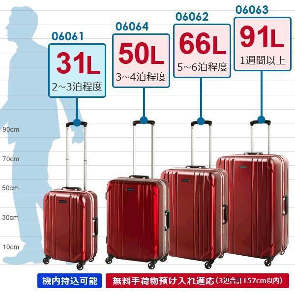 エース スーツケース ACE World Traveler ワールドトラベラー サグレス (66L) 06062 キャスターストッパー搭載 フレームタイプ 手荷物預け入れ適応|travel-goods-toko|08