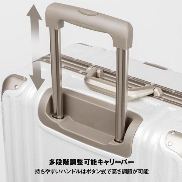 アウトレット スーツケース キャリーケース キャリーバッグ トランク 中型 軽量 Mサイズ おしゃれ 静音 ハード フレーム ビジネス 8輪 B-5509-57 travelworld 12