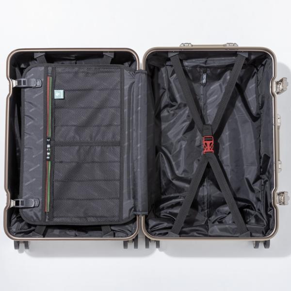 アウトレット スーツケース キャリーケース キャリーバッグ トランク 中型 軽量 Mサイズ おしゃれ 静音 ハード フレーム ビジネス 8輪 B-5509-57 travelworld 13