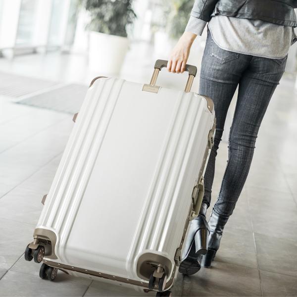 アウトレット スーツケース キャリーケース キャリーバッグ トランク 中型 軽量 Mサイズ おしゃれ 静音 ハード フレーム ビジネス 8輪 B-5509-57 travelworld 03
