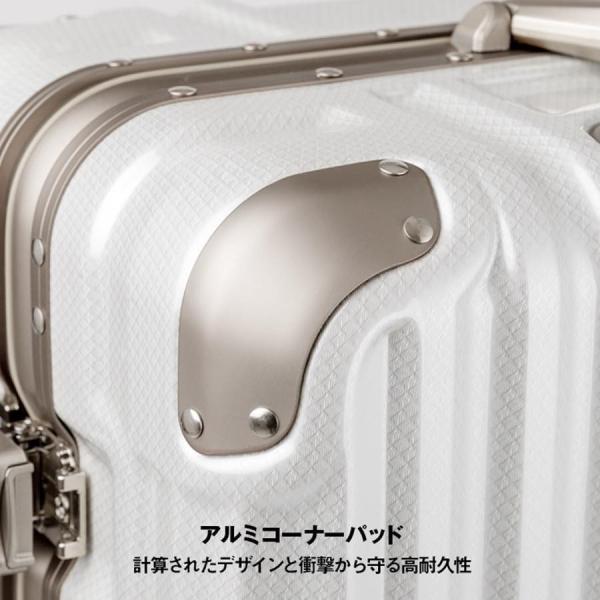 アウトレット スーツケース キャリーケース キャリーバッグ トランク 中型 軽量 Mサイズ おしゃれ 静音 ハード フレーム ビジネス 8輪 B-5509-57 travelworld 08