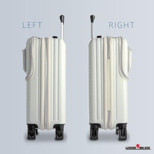 アウトレット スーツケース キャリーケース キャリーバッグ トランク 小型 機内持ち込み 軽量 おしゃれ 静音 ファスナー ビジネス パソコン収納 B-6024-48|travelworld|05