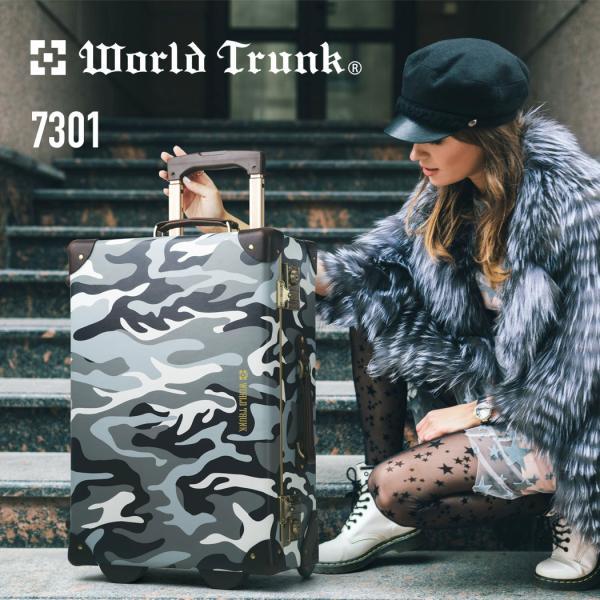 アウトレット トランクケース アンティーク おしゃれ かわいい レトロ 機内持ち込み 小型 キャリーケース スーツケース B-7301-50|travelworld|02
