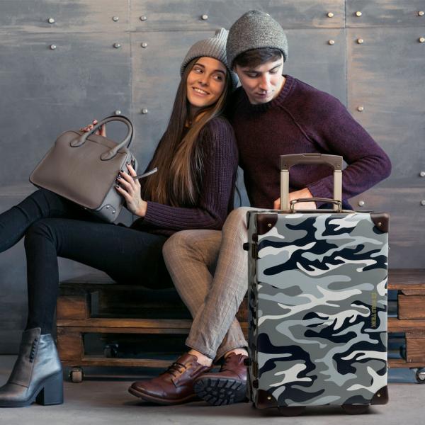 アウトレット トランクケース アンティーク おしゃれ かわいい レトロ 機内持ち込み 小型 キャリーケース スーツケース B-7301-50|travelworld|03