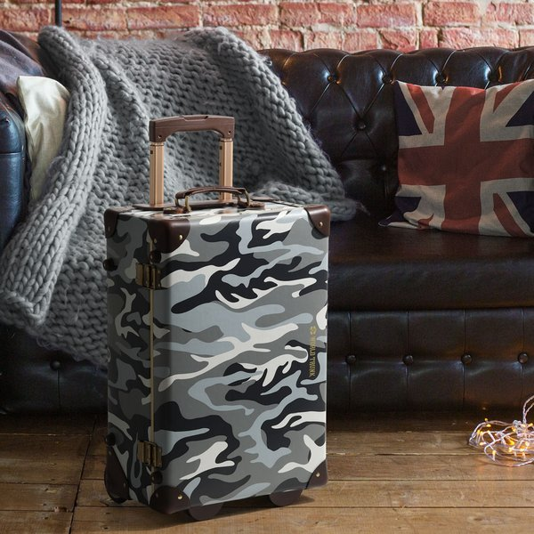 アウトレット トランクケース アンティーク おしゃれ かわいい レトロ 機内持ち込み 小型 キャリーケース スーツケース B-7301-50|travelworld|04