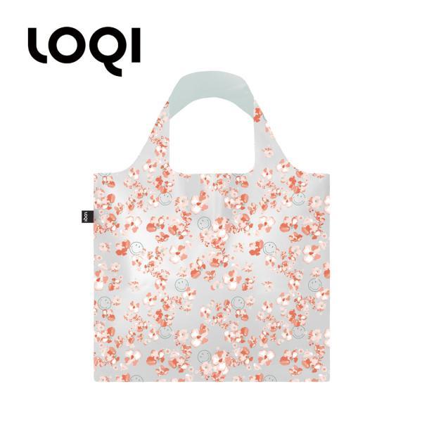 エコバッグ LOQI ローキー SMILEY スマイリー レディース 女性用 大きめ かわいい 軽い 柔らか 防水 メール便 送料無料 loqi-bag-tpu