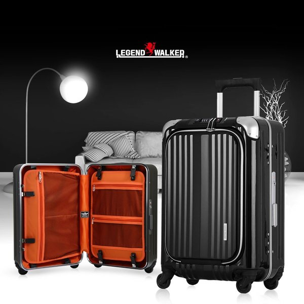 スーツケース キャリーケース キャリーバッグ トランク 機内持ち込み 軽量 おしゃれ 静音 ハード フレーム フロントオープン W4-6203-50|travelworld|17