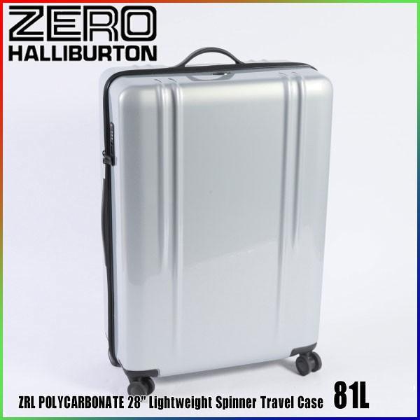 """訳あり ゼロハリバートン ZRL ポリカーボネイト 28"""" Lightweight Spinner Travel Case 81L ZTL28 Silver 80584 ZRL POLYCARBONATE"""