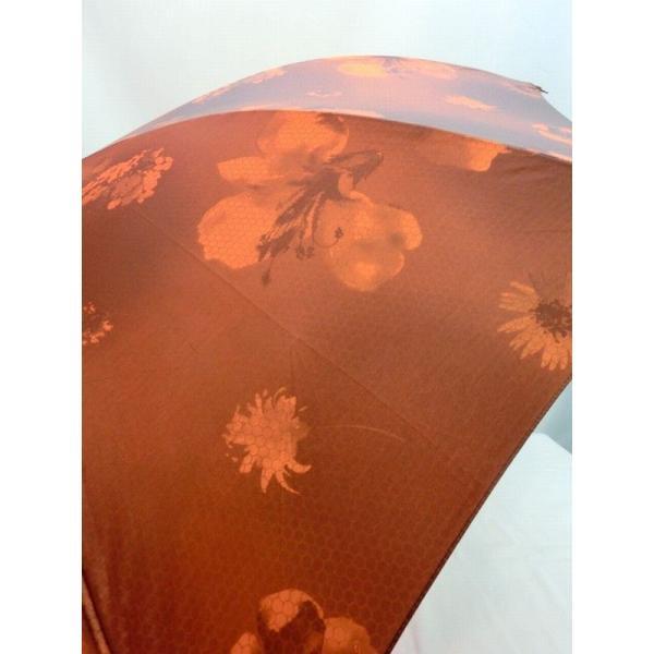 雨傘 傘 ファッション小物 レディースファッション 長傘 婦人 蜂の巣柄 生地 転写プリント 花柄 日本製 軽量 金骨 ジャンプ傘 ボカシ 高級 ジャンプ 美しい中棒
