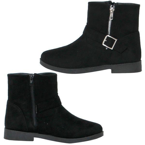 エンジニアブーツ ブーツ レディースシューズ レディースファッション 靴 サイドバックル ジップ付き スエード ワークブーツ ミドルブーツ 使いやすい