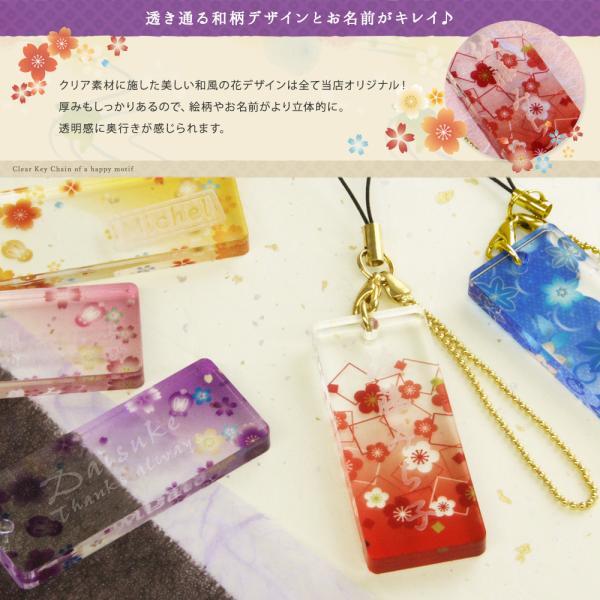 { 名入れ 敬老の日 プレゼント ギフト  プレゼント 和風 }和柄 花名札ストラップ|treasure-gift|04