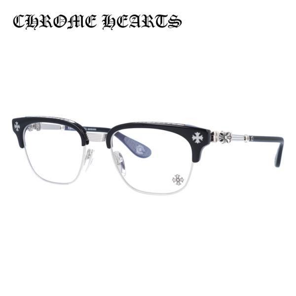 クロムハーツ メガネ フレーム Chrome Hearts メンズ 男性 レディース 女性 老眼鏡 PC眼鏡 BONENNOISSEUR II BK BS 53