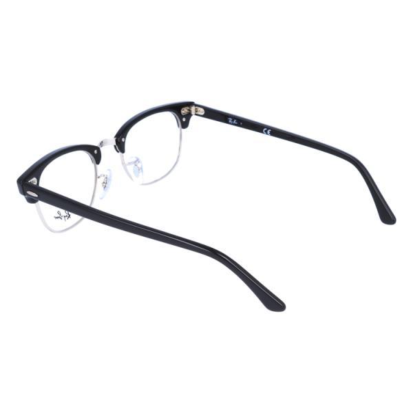 レイバン 老眼鏡・PCメガネ 伊達 レンズ無料 フレーム クラブマスター 調整可能ノーズパッド Ray-Ban CLUBMASTER RX5154 (RB5154) 2000 49サイズ 海外正規品|treasureland|06