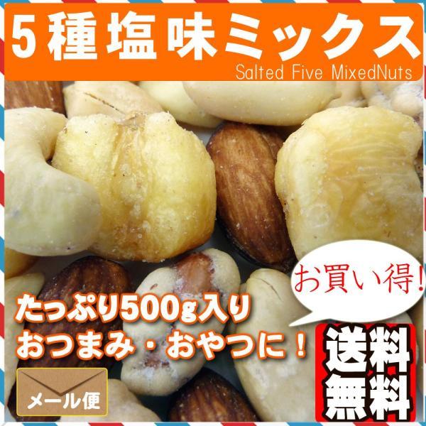 5種塩味ミックスナッツ500g ポイント消化|treemark2|03