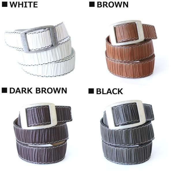 メール便 送料無料  メンズ ベルト PUレザーベルト ビンテージ ブラック ダークブラウン ホワイト フリーサイズ|trend-i|02