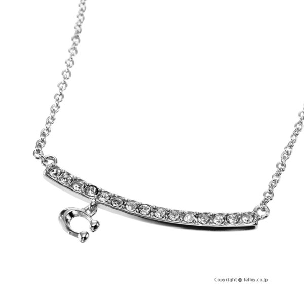 COACH コーチ ネックレス C Signature Pave Bar Necklace ペンダント 91431 SLV