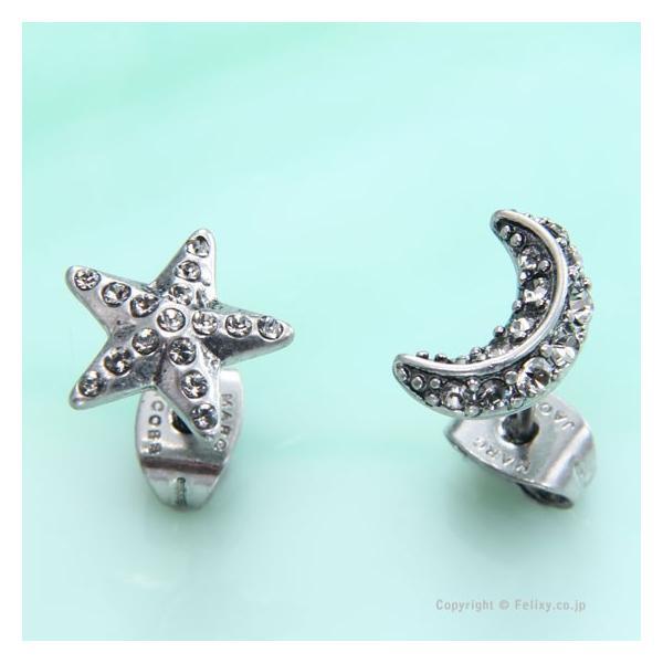 マークジェイコブス ピアス M0009157 092 MARC JACOBS Star&Moon スタッズピアス trend-watch