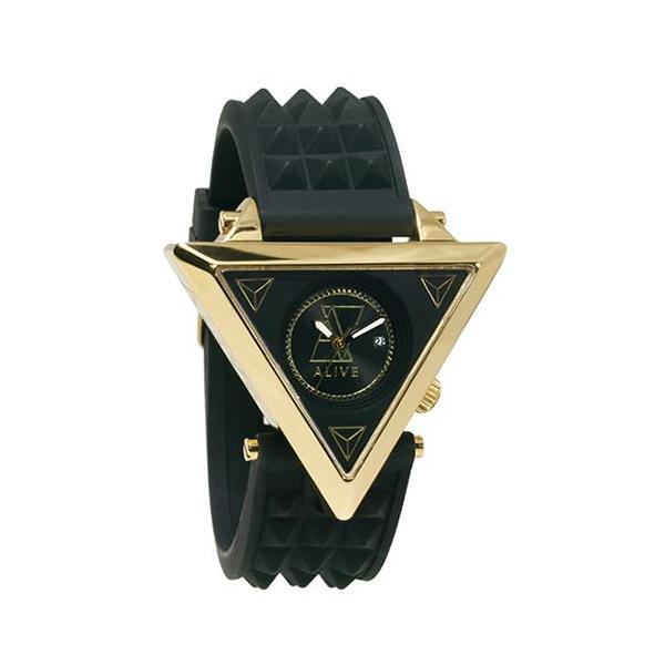 ALIVE アライブ アスレティックス 時計 A-Frame (A-フレーム) Black/Gold(ブラック/ゴールド) trend-watch