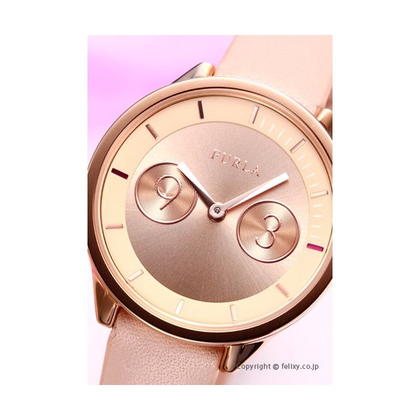 フルラ 時計 FURLA 腕時計 レディース Metropolis31 (メトロポリス31) ローズゴールド/ローズレザーストラップ R4251102511|trend-watch|02