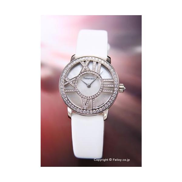 ティファニー 腕時計 レディース TIFFANY Atlas Cocktail Round ホワイトパール×ホワイトゴールド無垢/ホワイトサテン Z1900.10.40E91A40B