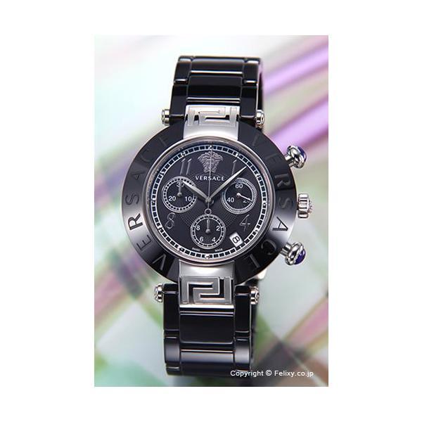 ヴェルサーチ 時計 ボーイズ VERSACE レーヴ セラミック クロノグラフ ブラック×シルバー 95CCS9D008SC09
