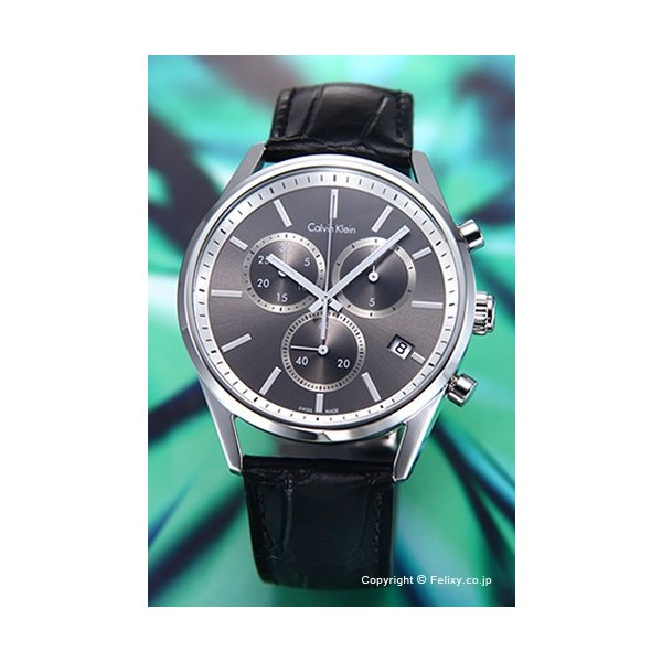 カルバンクライン Calvin Klein 腕時計 メンズ K4M271C3 フォーマリティ クロノ アンスラサイト|trend-watch